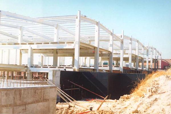 Proceso estructuras prefabricadas naves industriales.